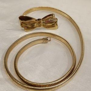 Gold Tone Women's Stretch Belt
